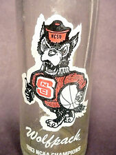 vintage ACL Soda POP Bottle: COKE / COCA-COLA & NORTH CAROLINA NCSU WOLFPACK