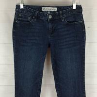 B by Bullhead womens size 9 stretch blue dark wash low rise extreme skinny jeans