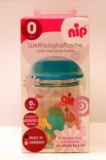 New NIP Glass Bottle Cup Baby Infant Toddler Orthodontic Teat (120ml)