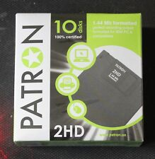"""New PATRON 2HD 3.5"""" 1.44MB floppy disks. Sealed box of 10 diskettes"""