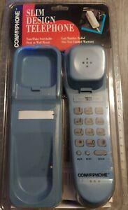 Vintage Phone Conair Slim Design Series Corded Telephone Cottage Blue New