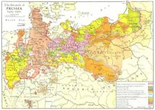 GERMANY. The Growth of Prussia 1415-1910 1910 old antique map plan chart