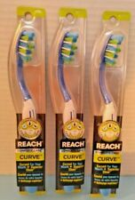 3 x Reach Complete Care Cure Curved Soft Bristles Toothbrush