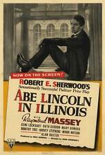 ABE LINCOLN IN ILLINOIS Movie POSTER 27x40 Raymond Massey Gene Lockhart Ruth