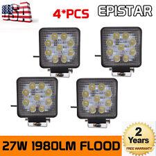 4X 27W Square LED Work Lights Flood Offroad Boat Car Tuck Driving Lamp 12V 24V