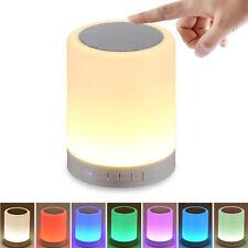 Night Light Bluetooth Speaker Mini Portable Wireless Touch Control LED Lamp