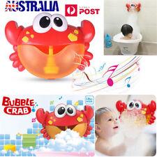 Crab Bubble Machine Musical Bubble Maker Bath Baby Toy Bath Shower Fun LG