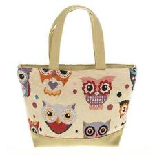 Traditional Tapestry Owl Cross Body Tote Bag 64910