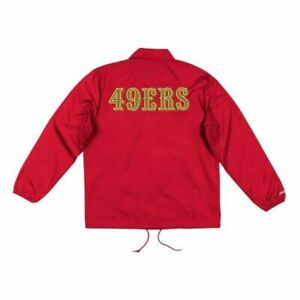 Coaches Windbreaker Mitchell And Ness Jacket San Francisco 49ers - L and XL