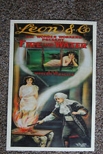 Leon and Co magician poster #1 1915  Fire and Water and Modern Miracles