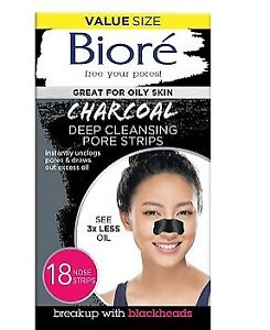 Biore Charcoal Deep Cleansing Pore Strips Pore.