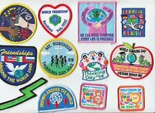 Girl Scout World Thinking Day Fun Event Patch Lot 80s 90s 20181016EE