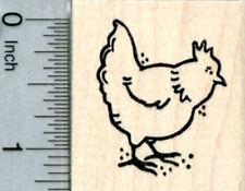 Hen Rubber Stamp, Backyard Chicken Series D31806 WM