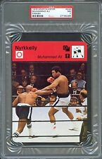 1978 Sportscaster Finnish MUHAMMAD ALI Earnie SHAVERS Boxing Card PSA 7 Rare!