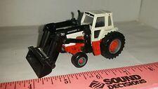1/64 ERTL custom case 1570 cab agri king tractor westendorf blak loader farm toy