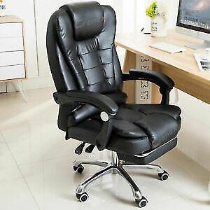 Luxury Massage Computer Offie Desk Gaming Chair Swivel Recliner w/Footrest