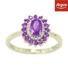 Amethyst Round Sapphire Fine Rings