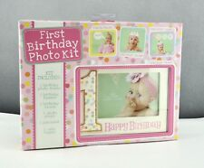 New C.R. Gibson First Birthday Photo Kit, Birthday Girl Frame Banner Crown