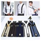 Men Women Clip-on Suspenders Elastic Y-shape Adjustable Braces Solids More Style
