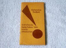 Vintage Curta Calculator Mathematical Handbook & Directions Pocket Sized Booklet