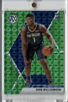 2019-20 Panini Mosaic #209 Zion Williamson RC Green Prizm Refractor Pelicans