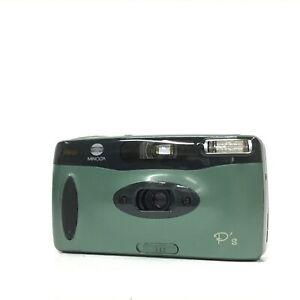 Minolta P's Green Point & Shoot 35mm Film Camera GOOD TK06P