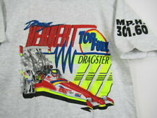 VINTAGE 90s Doug Herbet Top Fuel Dragster T Shirt Drag Racing 300 MPH YOUTH L