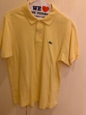 Men's Lacoste Regular Fit Short-Sleeve Polo Shirt Solid Yellow Size 4 Medium
