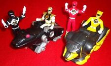 "4 4"" 1995 Mighty Morphin Power Rangers & 2 Animals Yellow, Red, Black & White"