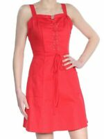 new XOXO Womens Red Mini Lace-Up Daytime Casual Dress Juniors  size L