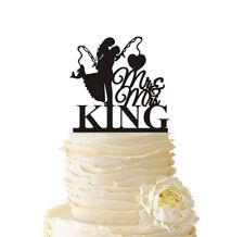 Couple Fishing Wedding Cake Topper Personalized Last Name Engagement Decorations