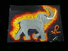 new Nightmare painting Drawing Dragon Elephant Art Trading Card Aceo animal man