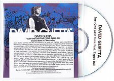 David Guetta Feat. Taped Rai - Just One Last Time - Rare 3trk promo CD