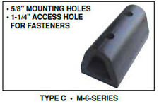 """Extruded Rubber Dock Bumpers 6"""" x 12"""" x 6"""""""