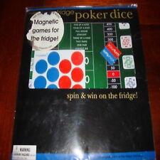 fridge play poker dice spin win magnetic games new fun