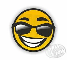 Smiley FACE OCCHIALI DA SOLE GIALLO felice Auto Furgone Adesivo Decalcomania Adesivi divertenti Adesivo