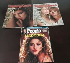 Madonna Lot Of 3 1980s magazines Rolling Stone People Borderline Lucky Star
