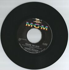 CONNIE FRANCIS 45 RECORD-FOLLOW THE BOYS/ WAITING FOR BILLY..VG+  1963