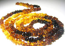 Real  BALTIC  AMBER Necklace 200cm.  78 inch.  rainbow
