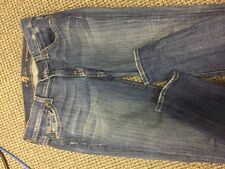 Women's Blue Jeans 7 for ALL MANKIND Straight Legs size 25 barely worn