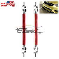 """Silver 6/""""-8/"""" Adjustable Front//Rear Frame Bumper Lip Splitter Strut Rod Support"""