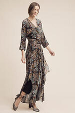 NWT $268.00 Anthropologie Woodlands Maxi Dress By Moulinette Soeurs Sz. 4