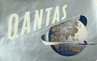 1940's-50's Lovely Qantas Globe Constellation Luggage Label Vintage Original E11