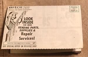 "Vintage Wico arcade gaming original large flyer Ad #CM472 9x6"" Folded"