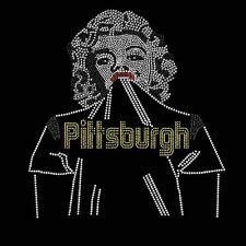 Pittsburgh Steelers Football Rhinestone Iron on Transfer        LDZU