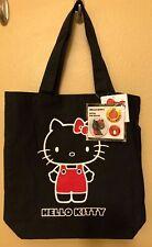 NWT Sanrio Hello Kitty schwarz 35th Anniversary Canvas Tasche mit 3 Pins