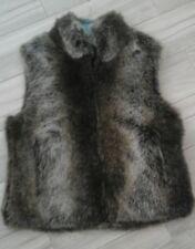 Blassport by Bill Blass Women Faux Fur Zip Front Reversible Vest         Size M