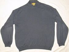TRICOTS ST RAPHAEL Mens Sweater L LARGE MADE IN ITALY Light Blue COTTON RAYON