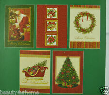 Assorted 10 Traditional Christmas cards Exclusive Range 15 x 10cm in Whole Sale