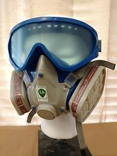 REUSABLE FULL FACE RESPIRATOR DUST MASK - AIR PAINT CHEMICAL & VAPOR PROTECTION